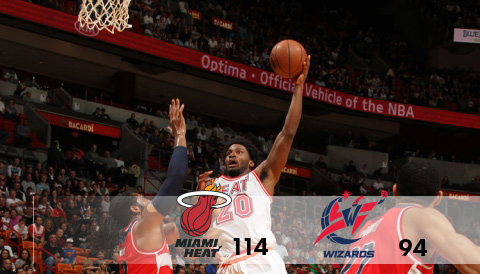 Miami Heat vs Washington Wizards February 20, 2016 at AmericanAirlines Arena