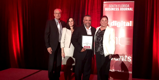 South Florida Business Journal Fast 50 Awards - Acordis International Sixth in the List